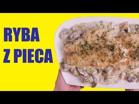 Ryba z piekarnika w sosie śmietanowo-koperkowym z pieczarkami / Baked fish in Creamy Dill Mushroom Sauce