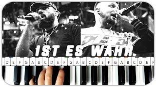 AZET & ZUNA - IST ES WAHR Instrumental Beat + Piano Tutorial MIDI