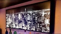 New York City Manhattan LED Lighted Skyline Wall Art