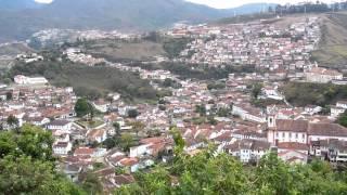 Uitzicht over Ouro Preto (Brazilië)