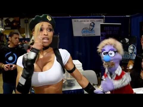 That time cosplayer Alicia Marie talked to a puppet at the Long Beach Comic Expo 2016.