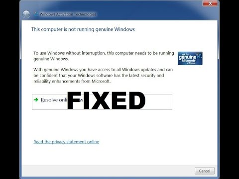 "How To Fix Windows Pop-up ""This Computer Is Not Running Genuine Windows"" *EASY Voice Tutorial*"