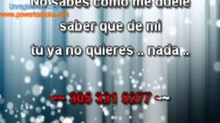 NO HA SIDO FACIL MONCHI Y ALEXANDRA karaoke
