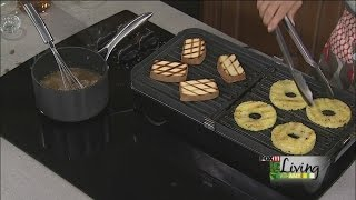Grilled Pineapple With Pound Cake And Caramel Sauce (part 1)
