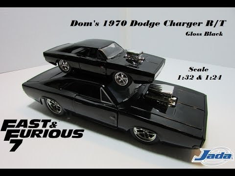 Dom S Dodge Charger R T Gloss Black Jada Scale 1 32 Amp 1 24