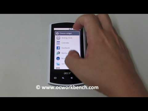 Acer Liquid flashed with Android 2.1 firmware (Eclair)