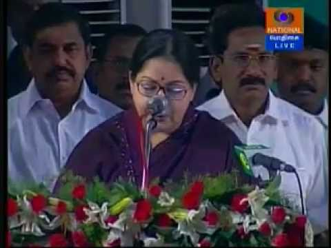 Jayalalithaa Sworn in  as the Chief Minister Of Tamil Nadu