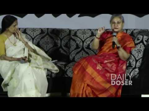Jaya Bachchan Shouts at Students & Photographers for taking her Photo!!