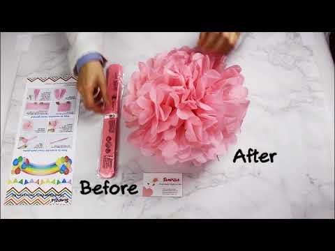 How to Assemble Paper Pom Poms and Tissue Tassels