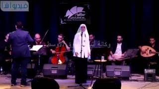 بالفيديو : عايدة الايوبى تحيى حفل بساقية الصاوى