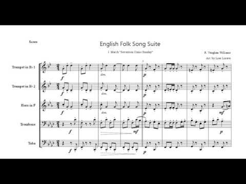 English Folk Song Suite Brass Quintet  I. March