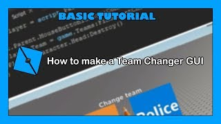 Comment faire un Team Changer GUI! - Roblox Studio Tutorial