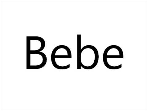 How to pronounce bebe youtube for Beb logo