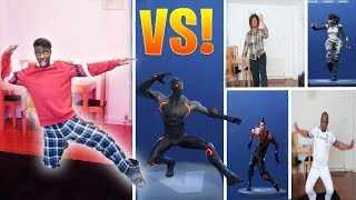¡RETO DE BAILE FORTNITE! - (En la vida real) (Temporada 4 Bailes HYPE, ORANGE JUSTICE, &más)