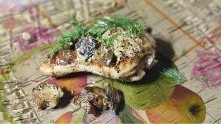 Рецепт как приготовить курицу в горчично-сливочном соусе с грибами