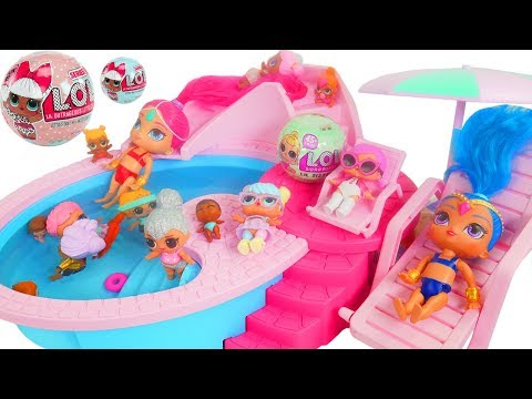 Shimmer and Shine Game at Barbie Pool with LOL Doll