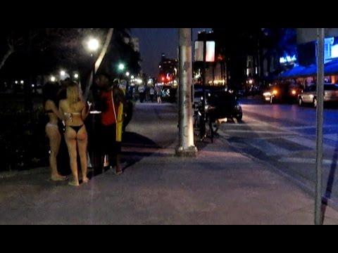 Nightlife in Miami. Ocean Drive. Florida. USA.