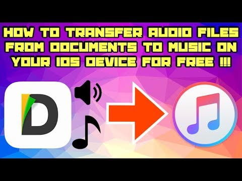 How To Transfer Audio Files From Documents To Music On iOS FOR FREE !!!  (Using A Computer)