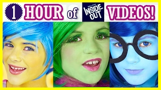 1 HOUR of INSIDE OUT! Makeup Tutorials, Challenges, Vlogs Compilation! Disney Pixar | KITTIESMAMA