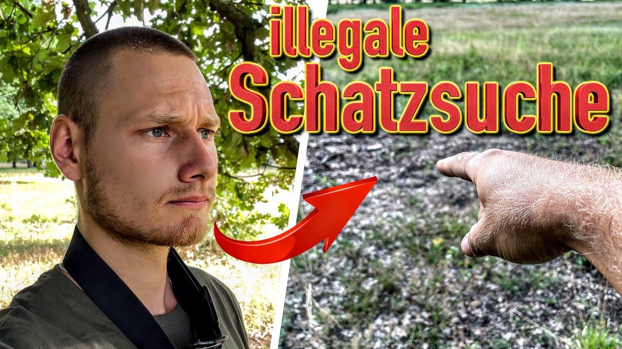 illegale Schatzsucher graben nach Silber Besteck?! (Sondeln mit Metalldetektor)