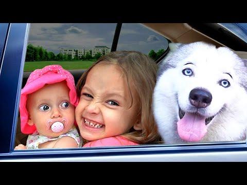 Детская песня - Мы в машине. Песни для детей от Майи и Маши.