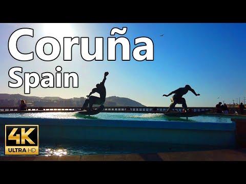 Download Coruña walk Promenade Beach | Galicia | Virtual Walk | 4k 60fps Spain