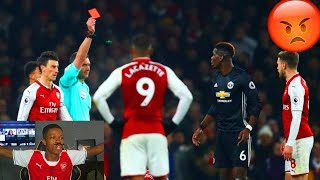 POGBA'S RED CARD ARSENAL 1-3 MANCHESTER UNITED LIVE REACTION (HIGHLIGHTS & GOALS)
