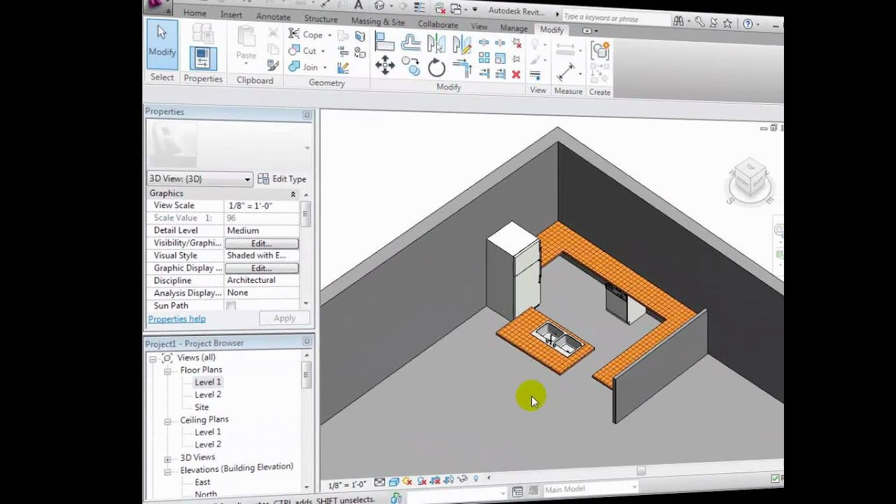 Revit Architecture Modeling Custom Components Part 1