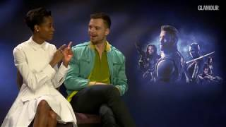Letitia Wright and Sebastian Stan talk Shuri and Bucky