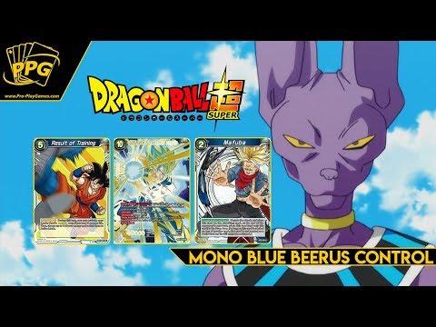 DBS Mono Blue Beerus God Control Deck Breakdown - 50 Person Case Tournament