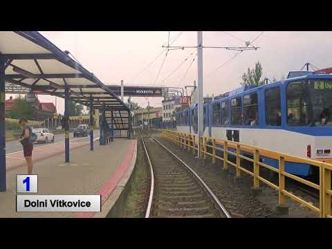 Tramwaje Ostrava 2018 linia 1