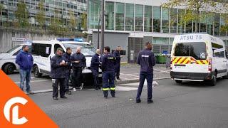 Rassemblement des ambulanciers devant l'hôpital Pompidou (6 novembre 2018, Paris)