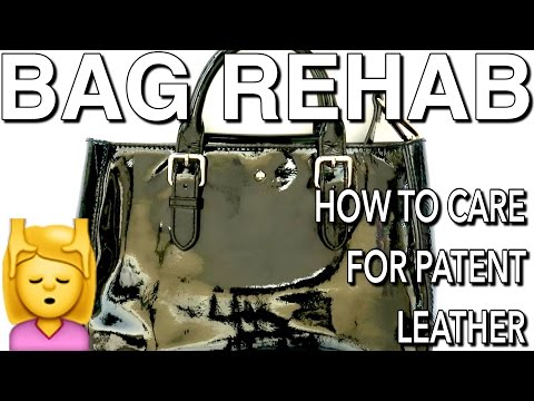 BAG REHAB: HOW TO CLEAN AND CONDITION YOUR PATENT LEATHER BAG FT. KATE SPADE