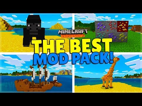 THE BEST MODPACK FOR MINECRAFT POCKET EDITION/BEDROCK (iOS, Android, Win 10, Xbox, Switch)