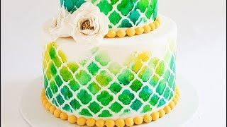 Sponge Painted Cake Tutorial- Rosie