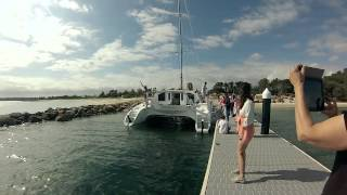 Schionning 36' Cosmos Performance Cruising Catamaran Launch