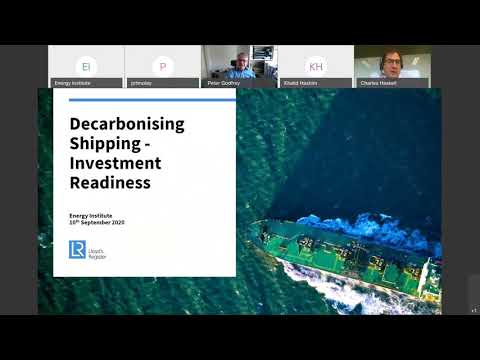 """EI LIVE webinar   """"The Future of Shipping"""" Investment Readiness"""