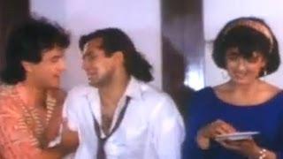 Aamir Khan's Plan against Salman Khan - Andaz Apna Apna Comedy Scene