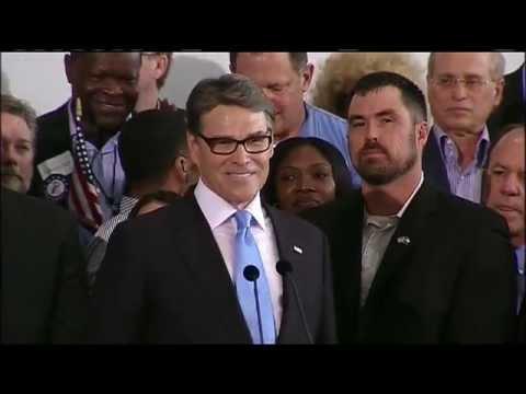 Rick Perry announces 2016 presidential run @ 11:30