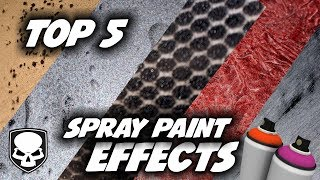 Top 5 Spray Paint Effects - 2017 - super easy tricks