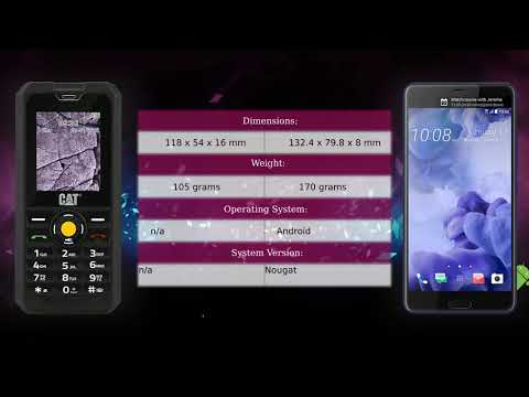 CAT B30 vs HTC U Ultra - Phone comparison