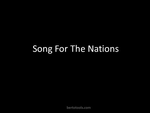 Song For The Nations Vocals Worship Video w/ Lyrics