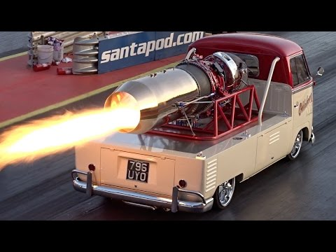 Oklahoma Willy Jet Bus - 1/4 mile run at Santa Pod Raceway