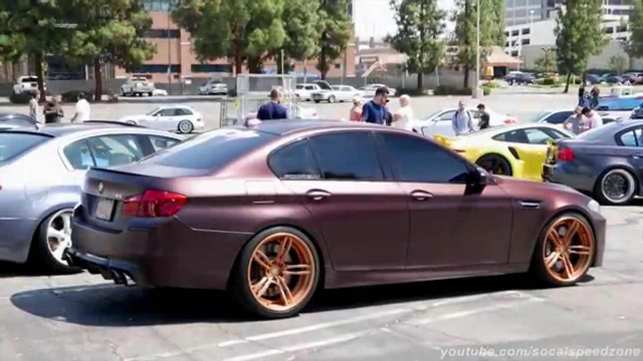 Bronze Bmw M5 With Gold Wheels Youtube