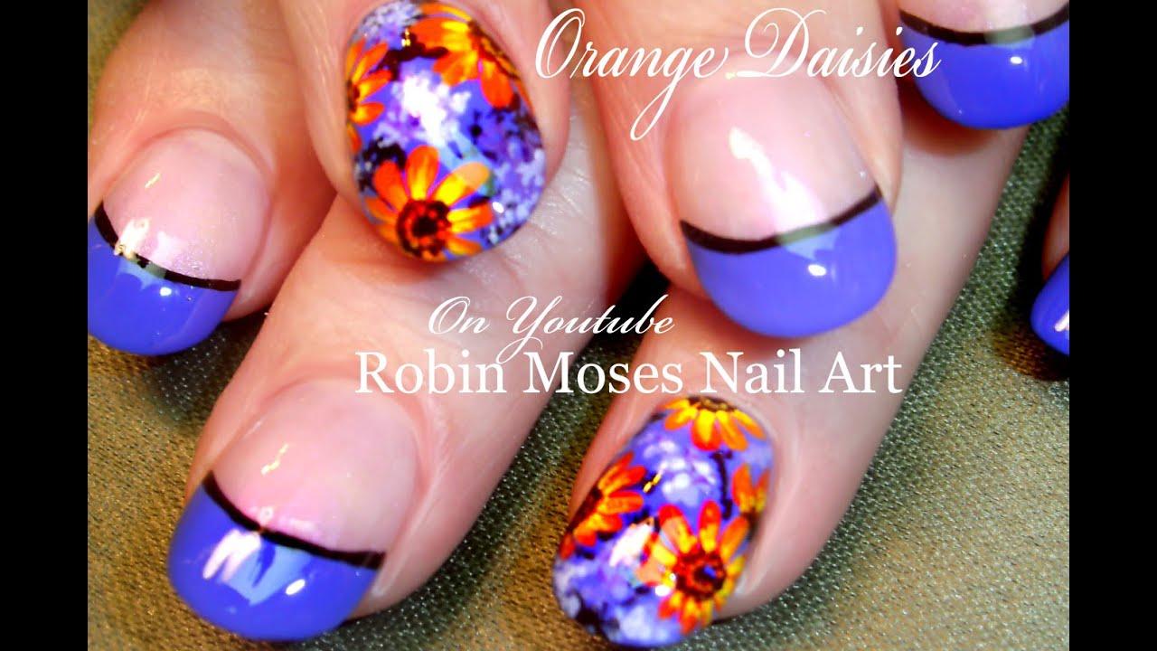 spring daisy nails diy daisies
