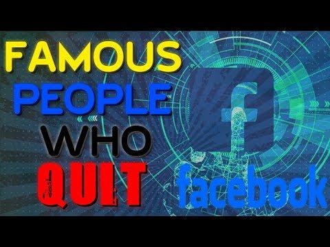 Famous Celebrities Who QUIT Facebook