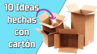 10 Ideas Hechas con Cartón || Manualidades Recicladas || Ecobrisa