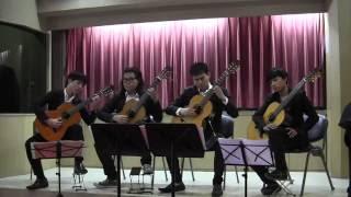 pachelbel s loose canon by qwertyuiop guitar quartet