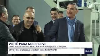Veseli vizitoi futbollistët e kombëtares në stërvitje para ndeshjeve