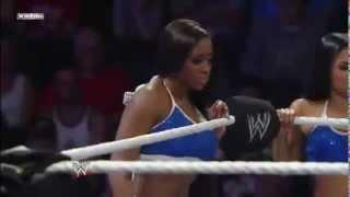 Wrestling DIVAS - Mixed Tag Team MATCH. ( Naomi & Cameron vs. The Bellas Twins.)